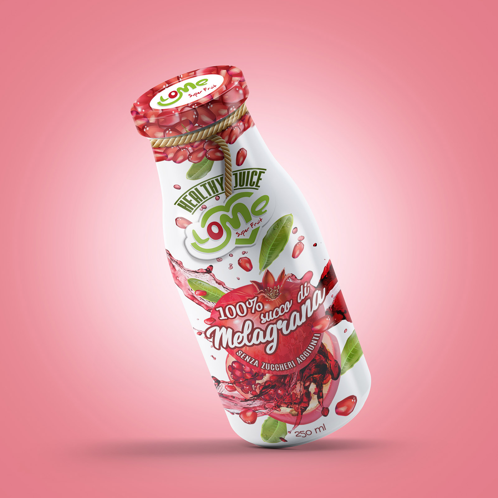 03 Smoothie Glass Bottle Mock-Up